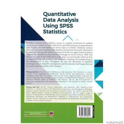 QUANTITATIVE DATA ANALYSIS USING SPSS STATISTICS